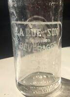 """La Rue and Son Beverage Vintage New Hope PA 7 Oz. 8"""" Soda Bottle"""
