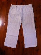 STYLISH TARGET WHITE LINEN WIDE LEGGED PANTS SIZE: 18 GC