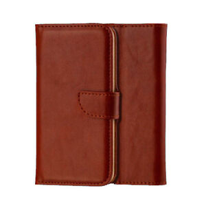 NEW brown WALLET LEATHER GEL CASE WITH CARD SLOT FOR Iphone 7 plus UK free post