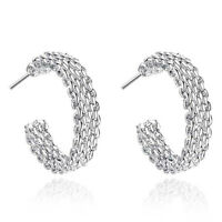 New products Female Stamped 925 Sterling silver Earring Free shipping Fine gift