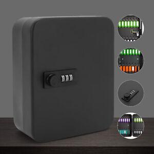Combination Lock Metal Key Storage Cabinet Wall Mounted Lockable Safe Box 20 Tag