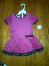 NWT FANCY TODDLER GIRLS DARLING PINK WITH STAR TRIM DRESS PIPER BABY SIZE 24 MOS