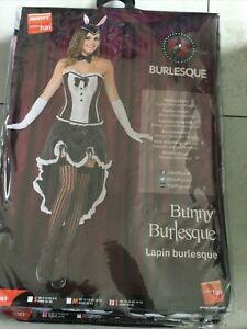 BNWT SMIFFYS Bunny Burlesque Costume Women's Fancy Dress,  Size Large UK 14-16