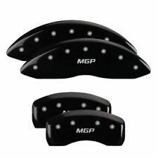 MGP Caliper Covers 23213SMGPBK Black Powder Coat Finish MGP Engraved Caliper Cover with Silver Characters, Set of 4