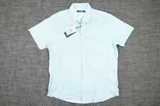 STONE ROSE AKL9134 GEO FLORAL BLUE STRETCH XL SHORT SLEEVE BUTTON FRONT SHIRT