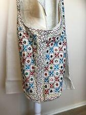 Womens Bucket Bag Cotton Canvas Embroidery Gujrati Large Jhola Boho Hobo Gypsy