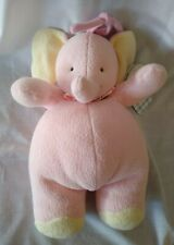 """Tykes Carter Pink Elephant Musical Crib Pull Toy Plays """"Rock a Bye Baby"""" New"""
