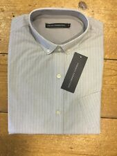 FRENCH CONNECTION® Long Sleeve Striped Shirt/Pewter - Large NOW £15!