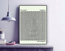 Mikhail Bulgakov 'Master and Margarita' Minimal Book Cover Print  / Poster