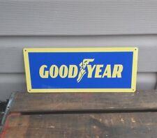 "GOODYEAR Metal Sign Tires Service Gas Station Garage Mechanic Shop 5x12"" 50147"
