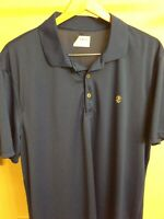 IZOD Golf Adult Extra Large Blue Solid Polo Rugby Shirt Mens XL