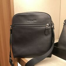 NWT Coach Men Houston Flight Bag Black Leather F68014 $298