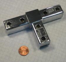 """Kason #3530 Modular Fitting, For 1"""" x 1"""" Tubing, Tee, Polished Chrome-Plated"""