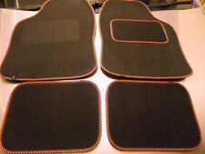Black and Red Stripe trim car mats for BMW E30 E36 E46 E39 E87 318i Z1 Z3 M3 etc