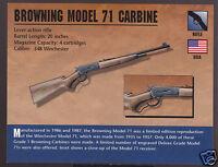 BROWNING MODEL 71 CARBINE RIFLE Belgium Atlas Classic Firearms Gun PHOTO CARD