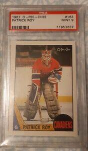 1987 - 1988 O-PEE-CHEE Patrick Roy Montreal Canadiens #163 PSA 9