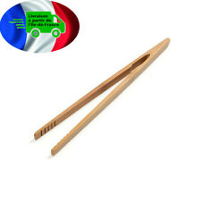 Pince bois de bambou  Grille pain Toast Bacon Sucre Ustensile Cuisine Réf:79-001