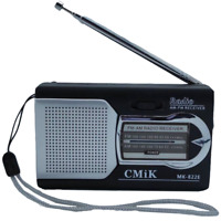 MK-822E Tiny Portable AM/FM Radio Receiver - XMAS stocking filler
