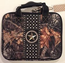 Camo Bling Laptop Case NWT! Tablet Bag Carrying Tote Muddy Cowgirl Rhinestone