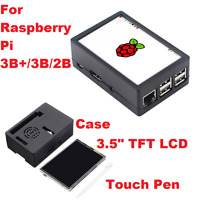"For Raspberry Pi 3B+/3B/2B, 3.5"" TFT LCD Touch Screen 320*480+Case+Touch Pen Kit"
