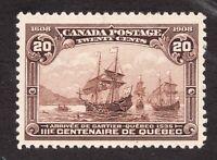 #103 - Canada - 1908 - 20 Cent - MH cv $400 as VF - superfleas