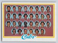 "1978  CHICAGO CUBS  - ""Team Checklist"" Topps Baseball Card # 302"