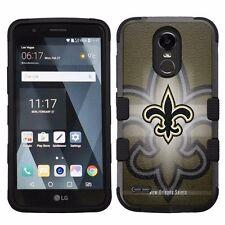 For LG Stylo 3 LS777 Hard Impact Armor Hybrid Case New Orleans Saints #B