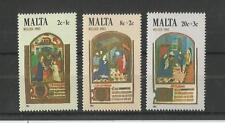 Malta 1983 Navidad SG, 719-721 Um/M nh Lote 2145A
