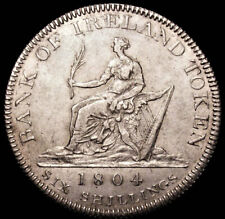 More details for 1804 george iii bank of ireland silver six shillings token spink 6615