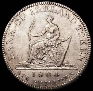 1804 George III Bank of Ireland Silver Six Shillings Token Spink 6615