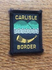 Vintage Cloth Patch Scout Badge Scouting Memorabilia Carlisle Border Cumbria