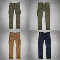 NWT Abercrombie Fitch Hollister Mens Classic Cargo Camo Olive Khaki Pants 283032