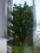 "Philips Tinsel Tree Lighted Small Table Top Christmas Tree 8"" Tall USB"