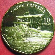 1998 MARSHALL ISLANDS $10 GREEK TRIREME ANCIENT WARSHIP BATTLE SHIP SUPERB RARE!