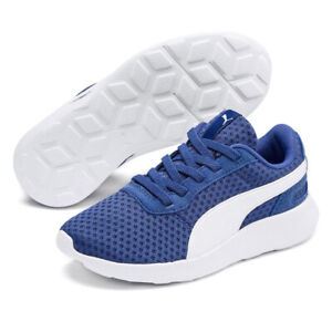 PUMA St Active Ac Ps Trainers Kids Blue Soft foam Sports Fitness Running Shoes