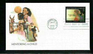 2002 Sc #3556 34c Mentoring a Child Fleetwood cachet FDC