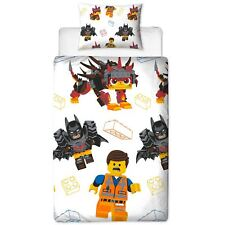 LEGO MOVIE 2 AWESOME SINGLE DUVET COVER SET REVERSIBLE KIDS BEDDING
