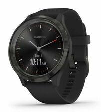 Garmin vívomove 3 Reloj GPS 44mm Caja con Correa de silicona - Negro con Bisel de acero inoxidable de color pizarra