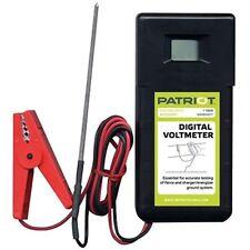 Patriot Digital Voltmeter | Electric Fence Tester for Fence Charger Energizer