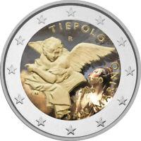 2 Euro Gedenkmünze San Marino 2020 coloriert / mit Farbe Farbmünze Tiepolo  1