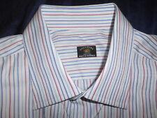 SOLEMARE MAUS & HOFFMAN LONG SLEEVE DRESS SHIRT SIZE 17 35  ITALY.! SUPERB.!!