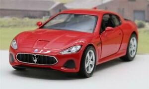 PERSONALISED PLATE Red Maserati Diecast Model Boys Dad Toy Car Present Boxed