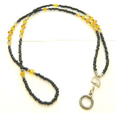 Eye Glasses Holder Lanyard Black Amber Beaded Fashion Gift