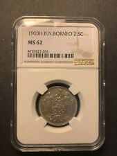 British North Borneo 2 1/2 cent 1903 uncirculated NGC MS62