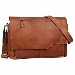 """STILORD """"Marvin"""" Herren Leder Tasche Umhängetasche groß Vintage Design 15.6 Zoll"""