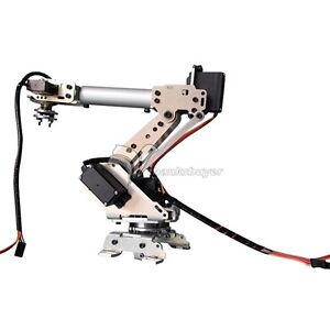 New 6-Axis Stainless Steel Robot Arm Metal Robotic Manipulator with Servos DIY