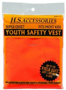 NEW! Hunters Specialties Hunters Safety Vest, Blaze Orange, Youth/ Small 02001