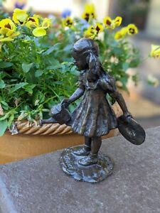 Gary Price Bronze Sculpture Girl, Watering Can, Grand Rapids, MI, Meijer Gardens