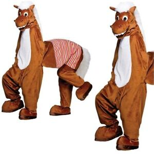 Pantomime Horse (2 Man) Adult Horse Fun Stag Fancy Dress Costume Panto Mascot