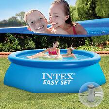 Intex 244x76 Schwimmbecken Schwimmbad Swimming Pool Planschbecken Quick up 28112